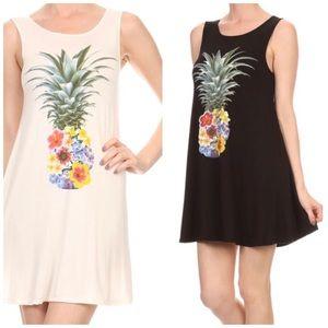 Dresses & Skirts - Floral Pineapple Tunic Dress